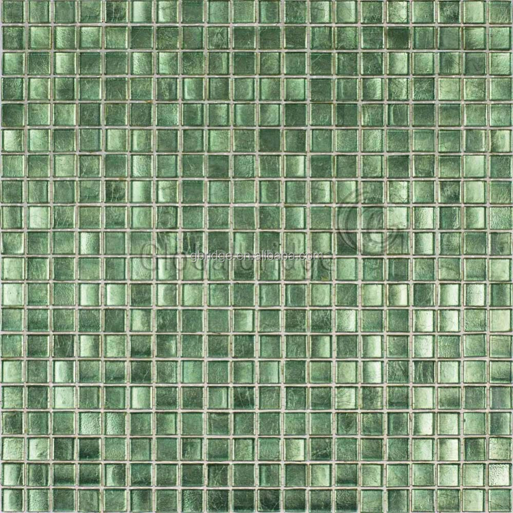 glass mosaic&glass mosaic tile&apple green glass mosaic tile for bedroom walls