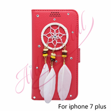 Aidocrystal Wallet Pouch Fashion Luxury red PU Leather Phone Case For Apple iPhone 5 5S SE 6 6S Plus i7 Plus Flip Back Cover Bag