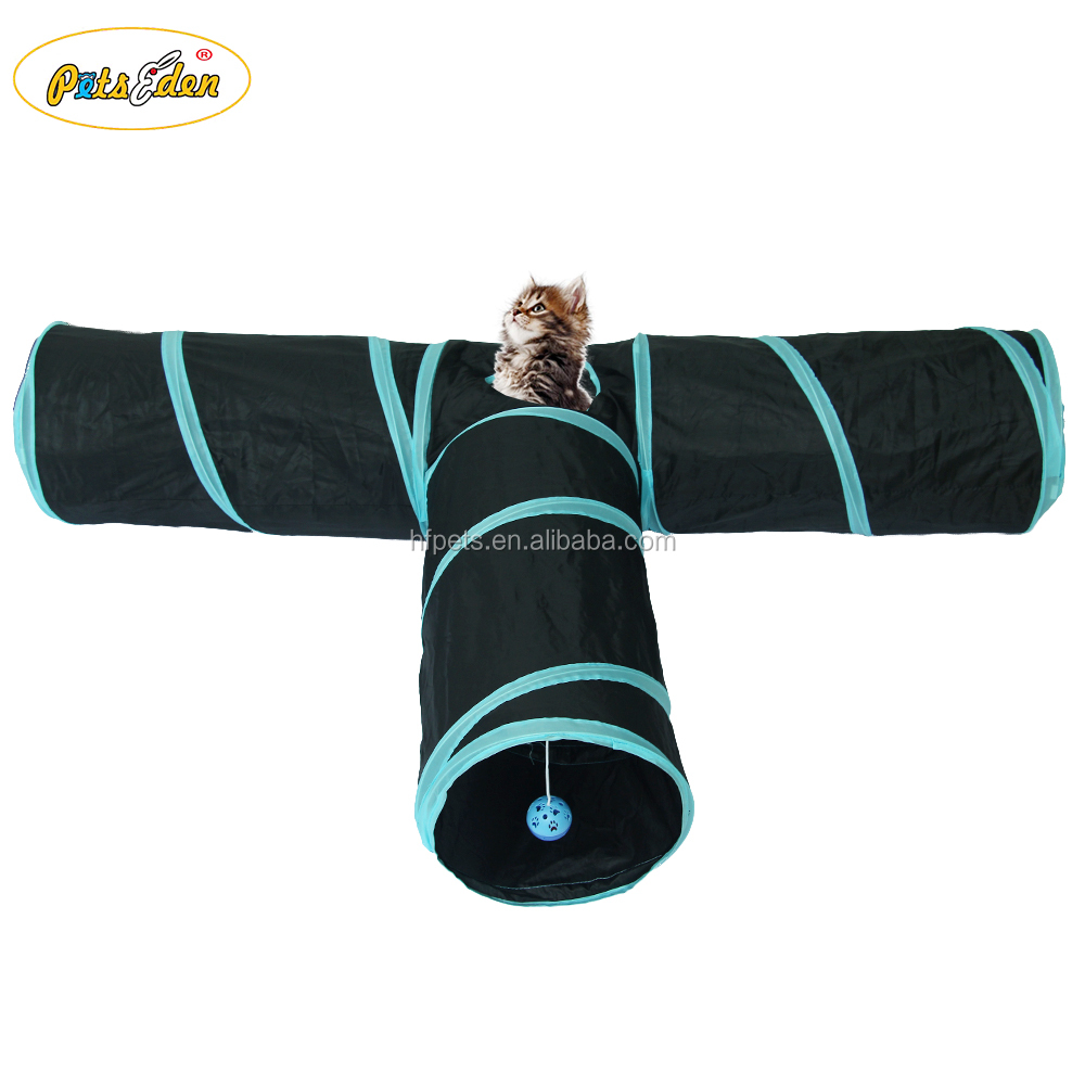 Foldable 3 Holes Pet Cat Tunnel Toys Indoor Outdoor Pet Cats Training Toy Kitten Rabbit Funny Cat Tunnel House Toys