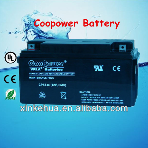 High quality 12V80AH Lead acid UPS Battery for home / computer ups system