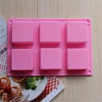 Pink color 5*5*2.5silicone bakeware silicone molds cake decorating mould silicone molds for cake mold