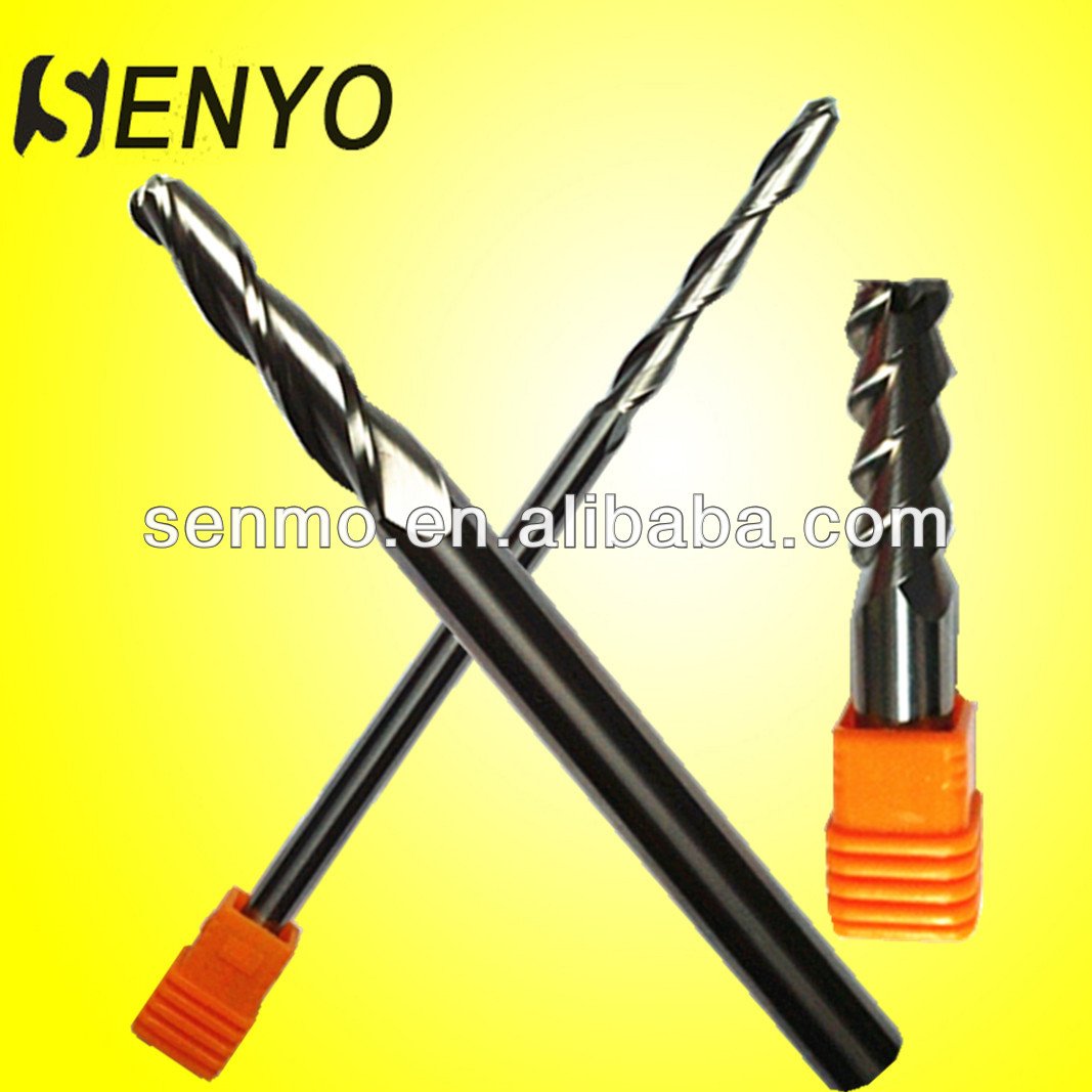 Acrylic Cutting Tools/Senyo Aluminum Milling Bits/2 Flute Ball End Mills With Straight Shank For Wood/Indexable End Mills