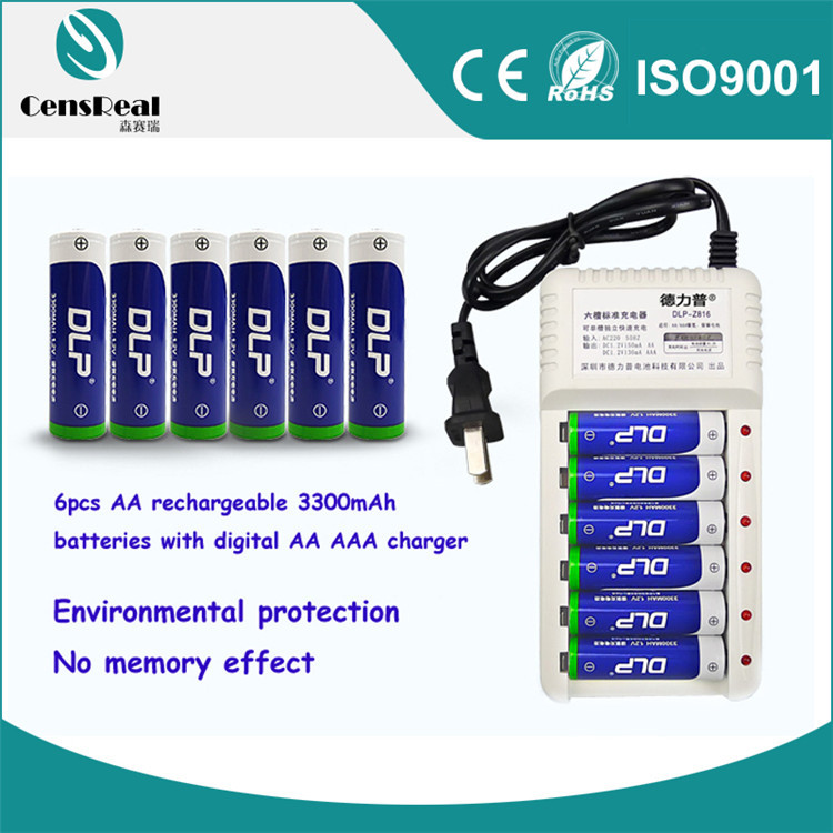 Cheap 1.2v Ni-MH 3300mAh rechargeable batteries and chargers