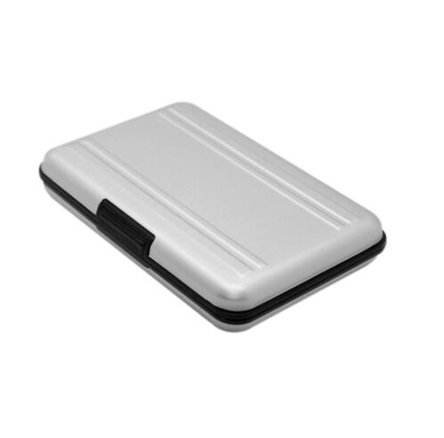 Aluminum Memory Card Protector Case Holds 8 SD Secure Digital Cards