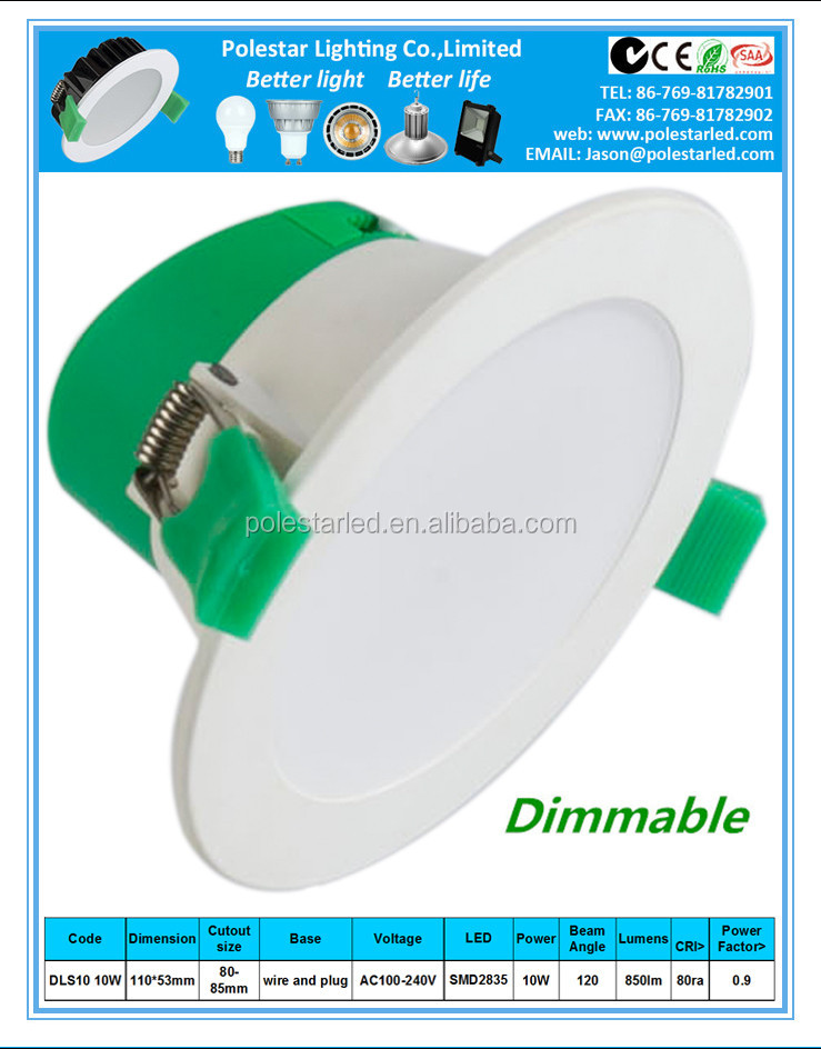 promotion smd day light dimmable 8 led retrofit downlight 70w CE