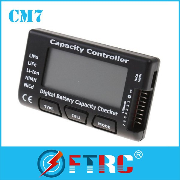 Intelligent Battery Capacity meter, Cell Meter for 2-7s NiCd NiMH,Li-Po,LiFe,Li-lon Cellmeter-7