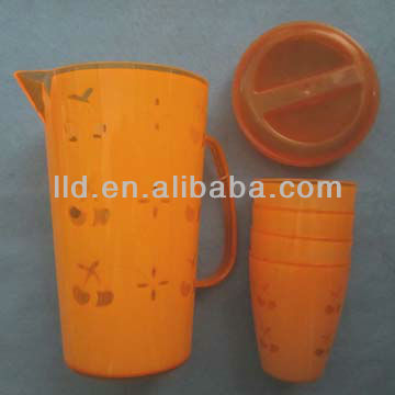 110956 plastic water pitcher,double colored plastic pitcher
