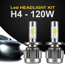 2x 120W H4 9003 LED Headlight Light Hi/Low White Car 12000LM Bulbs Lamp SUV HB2 US STOCK