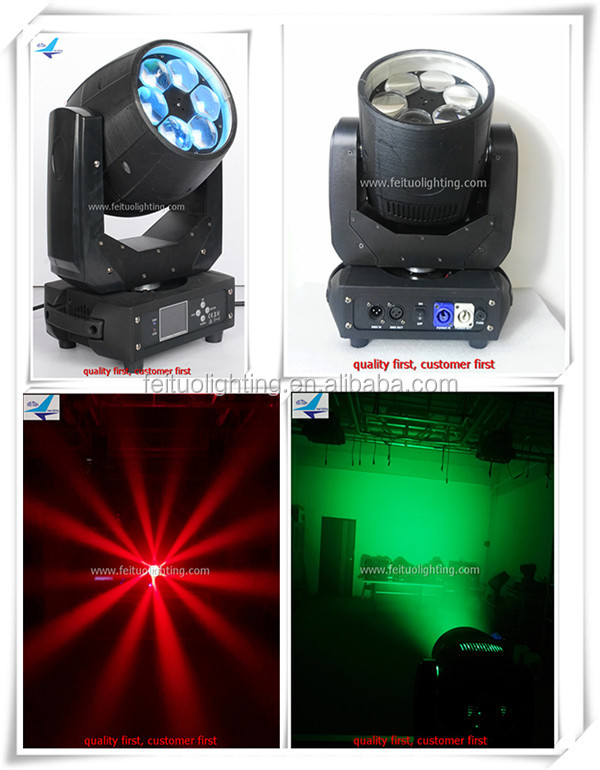 6 pcs 4 in 1 rgbw led mini bee eyes moving beam moving head light 40w