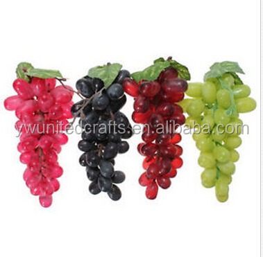 Artificial Grapes Plastic Fake Fruit Food Home decor Decoration