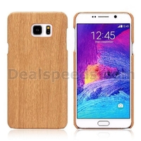 Wood Grain Leather Coated PC Hard Case for Samsung Galaxy Note 5 N9200