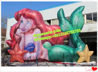 Hot!!!9m length*6m height Events advertising inflatable model/inflatable mermaid W9724