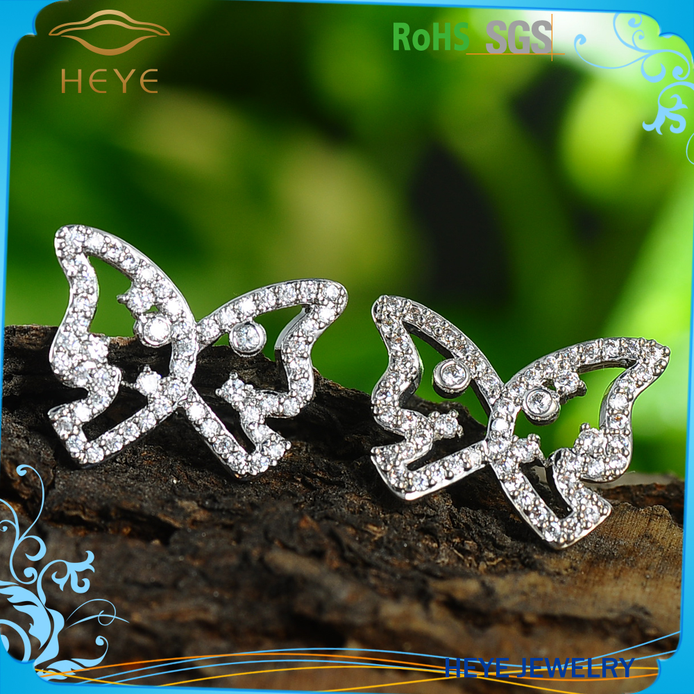 2016 Market tested quality wholesale butterfly earring jewelry from china