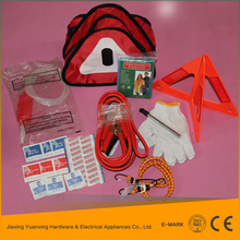 wholesale china car roadside emergency kit with foldable bag and jump start