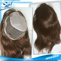 Best quality injected I lace invisible human hair toupee