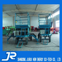 Hydraulic grove manlift with four wheels for sale