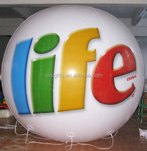 flying on sky balloons, hot selling inflatable helium balloon, giant helium spheres