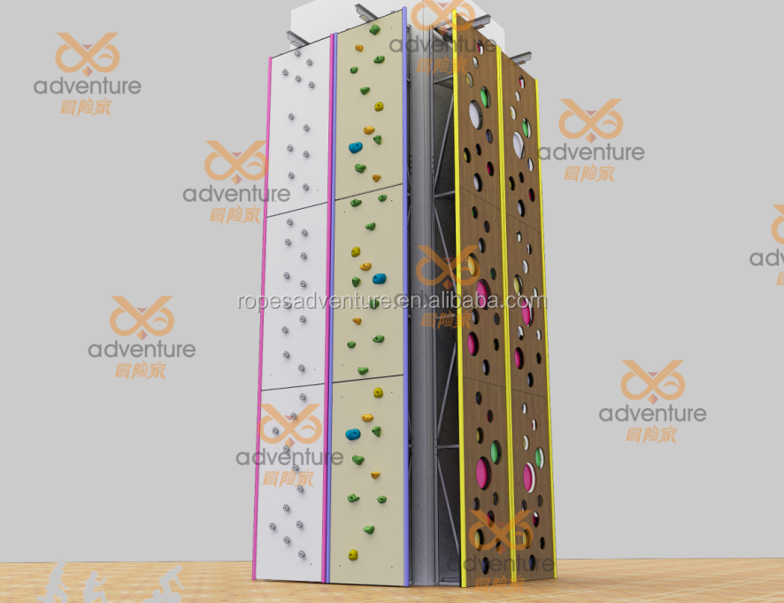 Adult artificial climbing rock wall, artificial rocks
