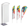 Flexible Free Standing Teardrop Banner Flag