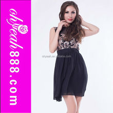 Wholesale high fashion sexy night evening short dress models pic black club dresses