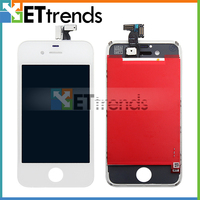 White replacement lcd touch screen digitizer glass assembly for lcd iphone 4 CDMA