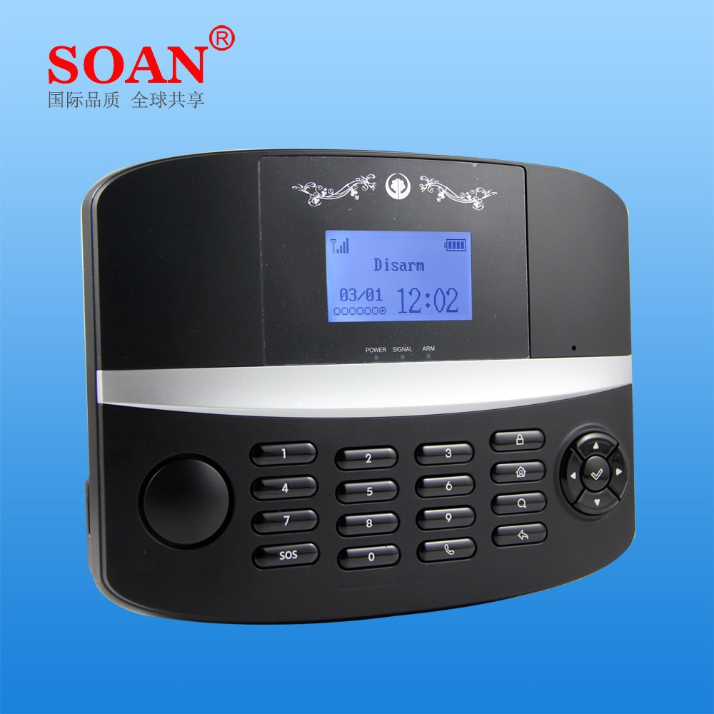 GSM PSTN Dual Network Wireless GSM Alarm System Sim card, GSM Home Security System with APP control and SMS Notification
