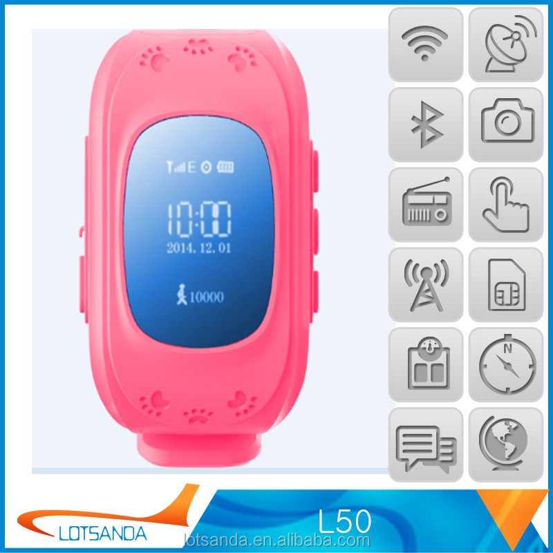 2015 Multifunctional wrist watch gps tracking device for kids-caref watch