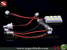 festoon/T10/ba9s adapter, 5050 6smd pure white pcb panel car led dome/map light