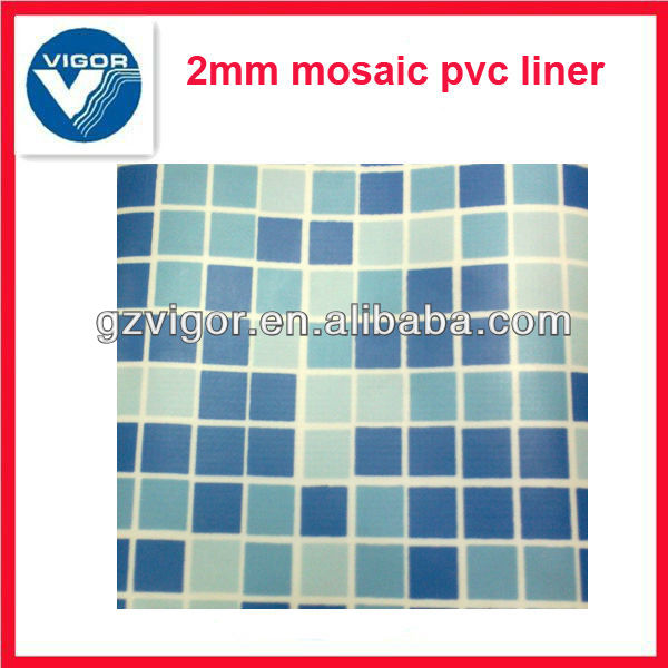 Mosaic liner for above ground swimming pool