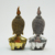 Electroplated glod and silver resin buddha statue