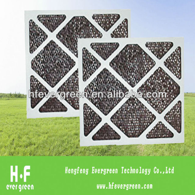 Paper frame activated carbon panel filter