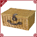 S.D hot sale poly rattan beautiful wicker picnic basket