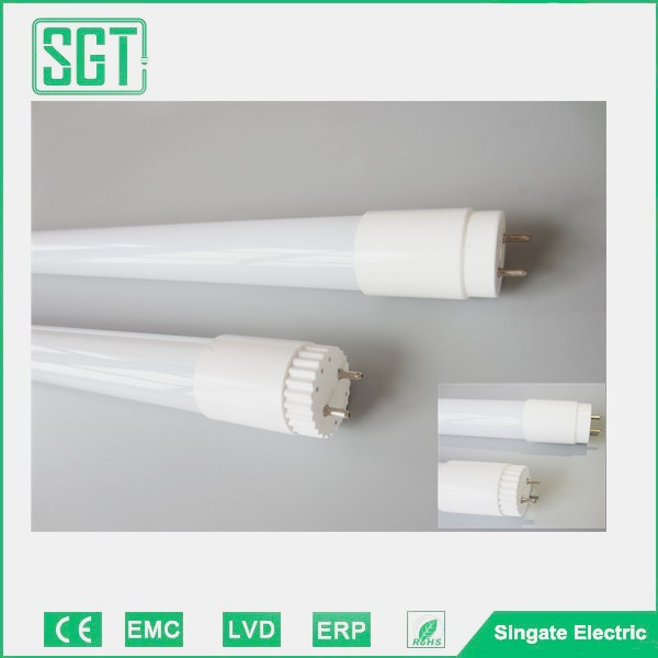 CE ROHS approved China tube 8 no flicker high quality PC material led tube light fixture t8 led tube light 18-19w