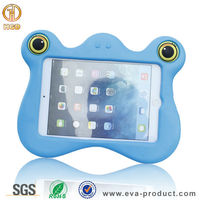 Frog-face design kid proof tablet case for ipad mini 1/2 animal case