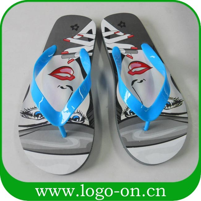 2017 newly cheap wholesale custom flip flops women, eva flips flops women