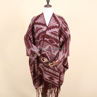 cheap geometric pattern wool wrap for winter