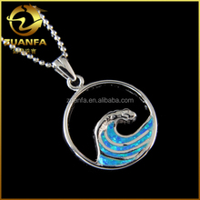 alibaba express solid silver hawaii sea fire blue man-made opal jewelry
