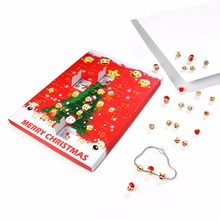 Eccosa Christmas Emoji Jewelry Advent Calendar 15 Emoji Beads+8 Stunning Earrings Gift Present Xmas Jewellery