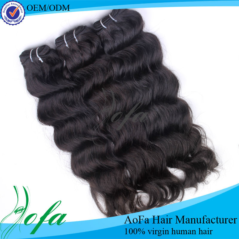 Wholesale pure indian remy ocean wave hair