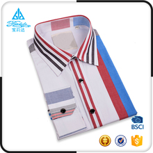 Latest 100% men cotton new model shirts 2017 with shoulder straps