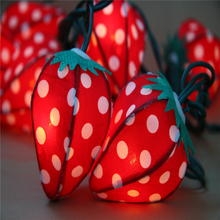 Christmas Indoor Outdoor Wedding Party Dercorative Fruit Strawberry Cotton Led String Light