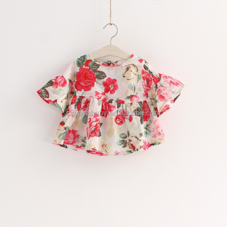 design baby frock design flower chiffon baby dress