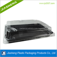 Plastic Food Trays with Clear Lids/Black Sandwich Platters Buffet and Catering
