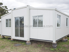The luxury can be extended from a 40-foot prefabricated flat-panel container to a living container house