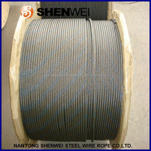 ungalvanized steel wire rope 6x37+iwrc with one blue strand