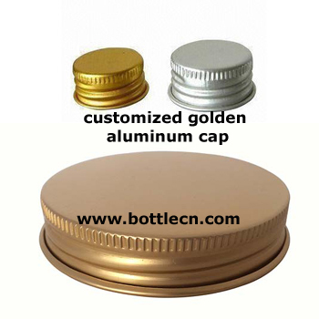 customized golden screw aluminum bottle cap