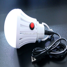 ABS Lamp Body Material and Bulb Lights Item Type White Lamp Bulb USB LED Outdoor Emergency Camp Tent Light