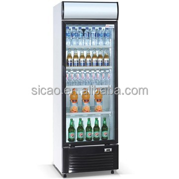 220L electric glass door upright Juice refrigerated showcase