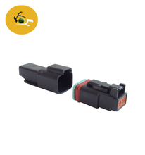 CNKF Super September Deutsch 2-Pin black Connector Kit with Housing, Pins & Seals Crimp Style Terminals DT06-2S DT04-2P