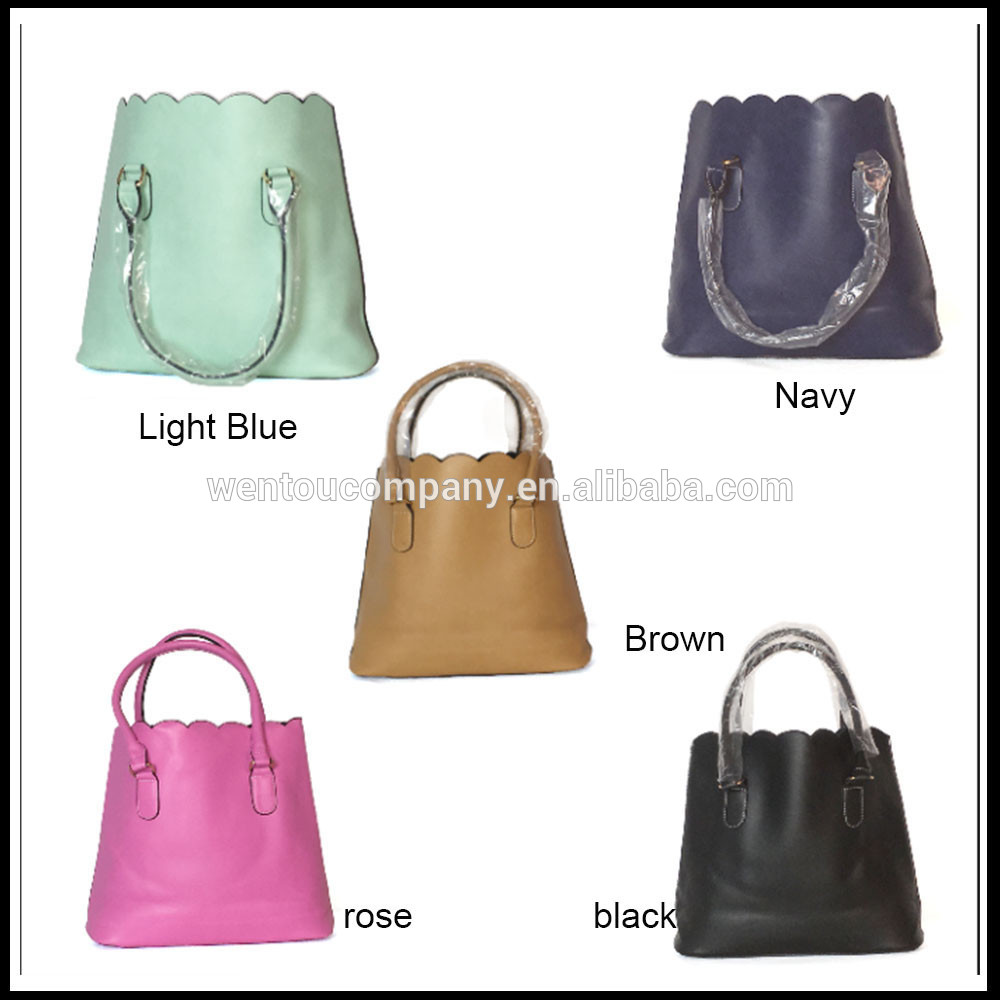 wholesale hoe sale fashion Monogrammed Scalloped Tote Bag